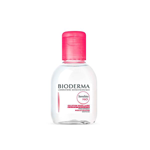 محلول پاک کننده آرایش بایودرما مدل Sensibio H2O حجم 100 میلی لیتر