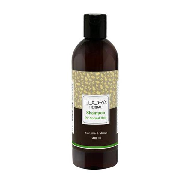 شامپوگیاهی مناسب موهای معمولی لدورا هربال 300 میلیلیتر